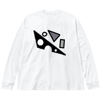 ちらばる Big silhouette long sleeve T-shirts