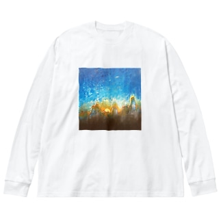 shopping_blueの遺嘆 Big silhouette long sleeve T-shirts