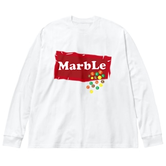 カラフルチョコレート Big silhouette long sleeve T-shirts