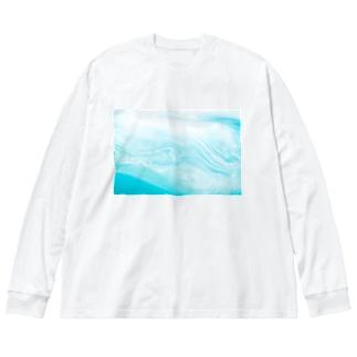 液体彫刻 Big silhouette long sleeve T-shirts