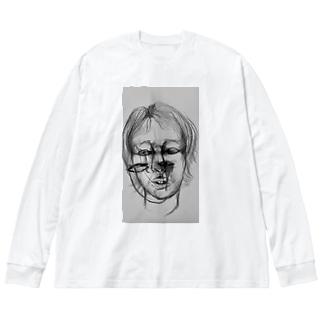 赦し2 Big silhouette long sleeve T-shirts