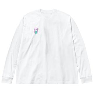 とみびえロンT Big silhouette long sleeve T-shirts