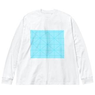 模様 Big silhouette long sleeve T-shirts