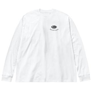 oofロンT Big silhouette long sleeve T-shirts