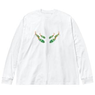 テングビワハゴロモちゃん Big silhouette long sleeve T-shirts