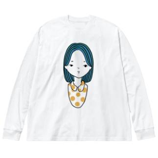 girl summer ver. Big silhouette long sleeve T-shirts