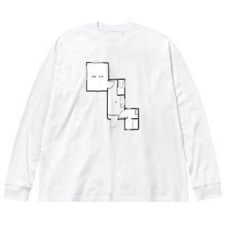 nejiT① Big silhouette long sleeve T-shirts