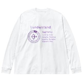 12星座【射手座】 Big silhouette long sleeve T-shirts