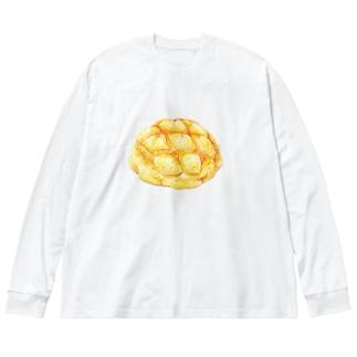 メロンパン Big silhouette long sleeve T-shirts