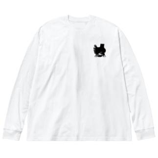 クラブロゴグッズ(ロゴのみ) Big silhouette long sleeve T-shirts