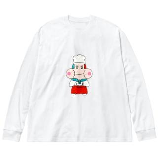 ぷっくちゃん Big silhouette long sleeve T-shirts