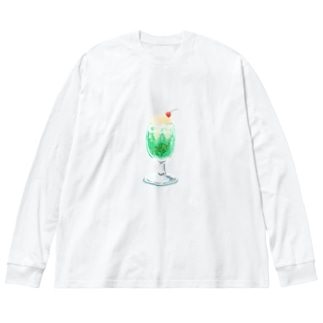 クリームソーダとたかし Big silhouette long sleeve T-shirts
