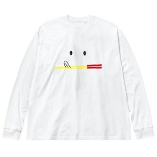 ペロちゃんうめーしOKINAWA Big silhouette long sleeve T-shirts