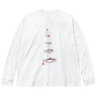 鮭一生のウラオモテ Big Silhouette Long Sleeve T-Shirt