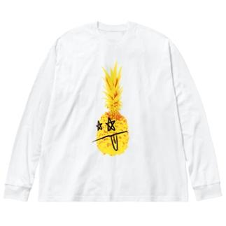 ロッキンパイナッポーOKINAWA Big silhouette long sleeve T-shirts