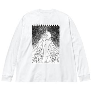 私の宗教画 Big silhouette long sleeve T-shirts