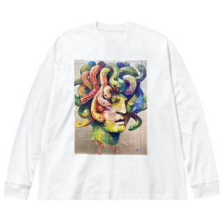 蛇頭女 Big silhouette long sleeve T-shirts