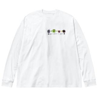 いもむしのおしりTシャツ・パーカーシリーズ Big silhouette long sleeve T-shirts