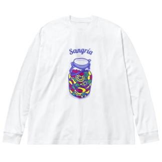 フルーツたっぷりサングリア Big silhouette long sleeve T-shirts