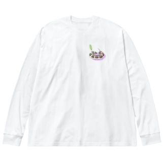 丸まるセスジスズメTシャツパーカーシリーズ Big silhouette long sleeve T-shirts