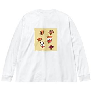 パンたち Big silhouette long sleeve T-shirts
