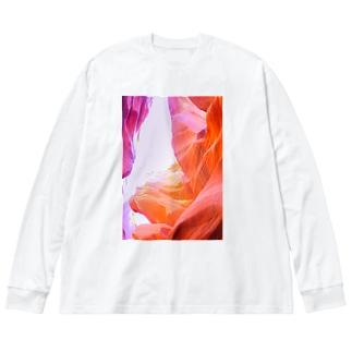 グランドキャニオン西遊記 Big silhouette long sleeve T-shirts