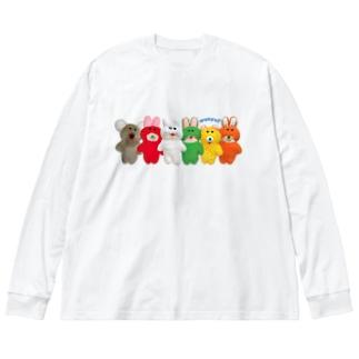 プクーズ整列! Big silhouette long sleeve T-shirts