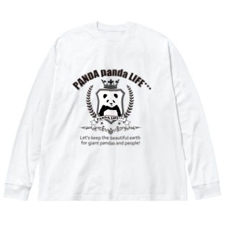 エンブレムパンダ Big silhouette long sleeve T-shirts
