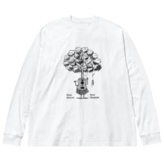 SaveNature Big silhouette long sleeve T-shirts