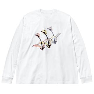 チューリップ🌷🌷🌷 Big silhouette long sleeve T-shirts