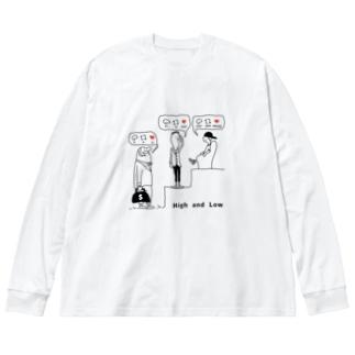 High&Low Big silhouette long sleeve T-shirts