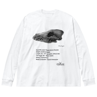コヨーテ頭骨 Big silhouette long sleeve T-shirts