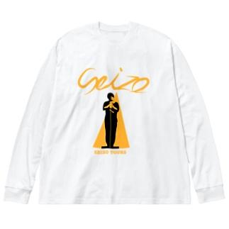 SEIZOツアー(オレンジ) Big silhouette long sleeve T-shirts
