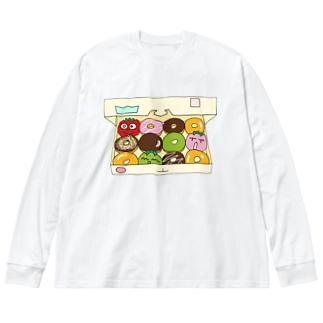 トマトドーナツ Big silhouette long sleeve T-shirts