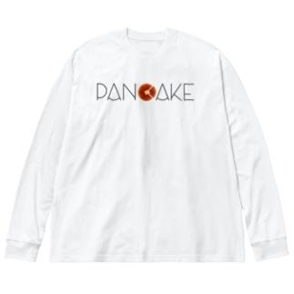 ぱんけーき Big silhouette long sleeve T-shirts
