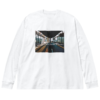 三国フォトグラフ Big silhouette long sleeve T-shirts