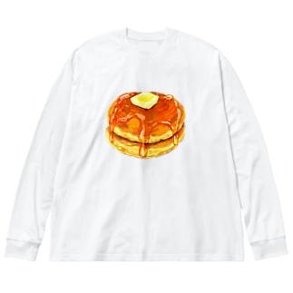 ホットケーキ Big silhouette long sleeve T-shirts