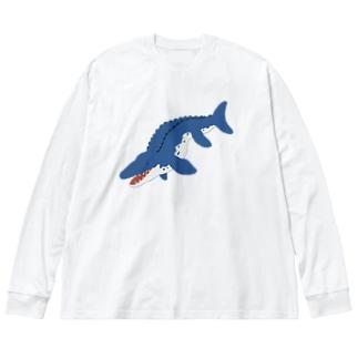 モササウルス Big silhouette long sleeve T-shirts