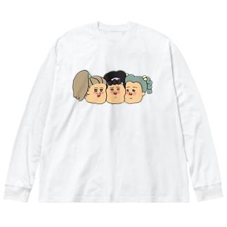 なかよし♡ Big silhouette long sleeve T-shirts