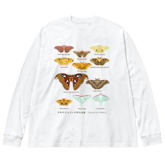 ヤママユガ科の仲間 Big silhouette long sleeve T-shirts