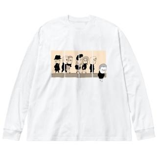 コマはウソをつく Big silhouette long sleeve T-shirts