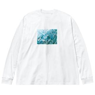 虚構の中の「      」flottante Big silhouette long sleeve T-shirts