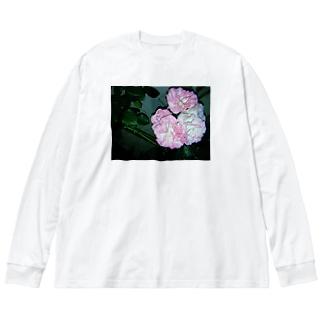 お花フィルム Big silhouette long sleeve T-shirts