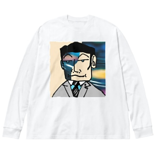 Dr.イエロー46の週末はクラブ活動 Big silhouette long sleeve T-shirts