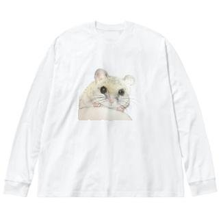 ひょこっとうにちゃん Big silhouette long sleeve T-shirts