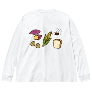 糖質を多く含む食品 Big silhouette long sleeve T-shirts