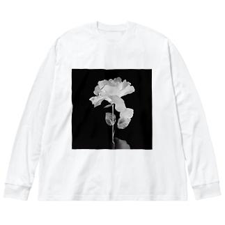 薔薇ントゲン Big silhouette long sleeve T-shirts