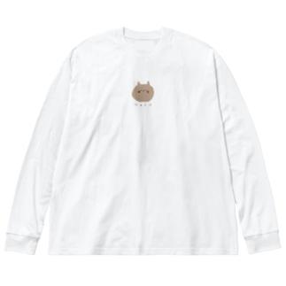 ちゃねこ Big silhouette long sleeve T-shirts