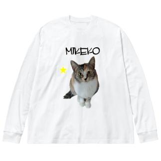 ミケコ Big silhouette long sleeve T-shirts