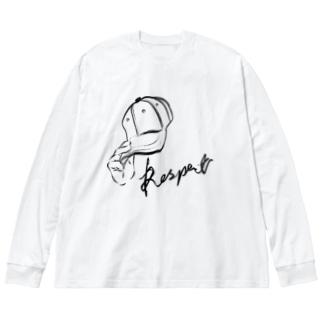 敬意を表する Big silhouette long sleeve T-shirts